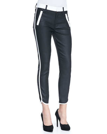 Sportif Cropped Coated Skinny Jeans