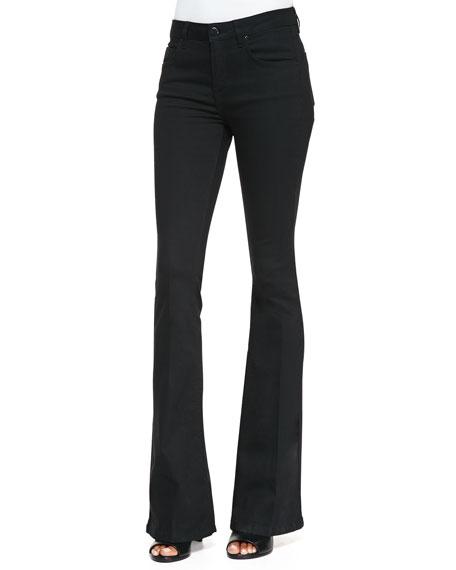 Flared-Leg Jeans, Black