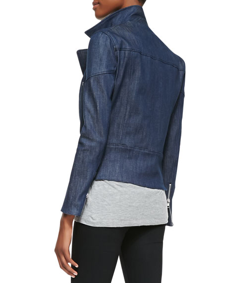Joan Denim Biker Jacket