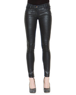 Just Cavalli Waxed-Front Denim Jeans