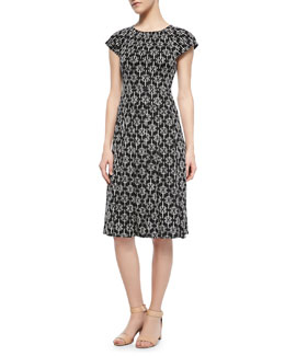 Tory Burch Sophia Printed Silk Dress