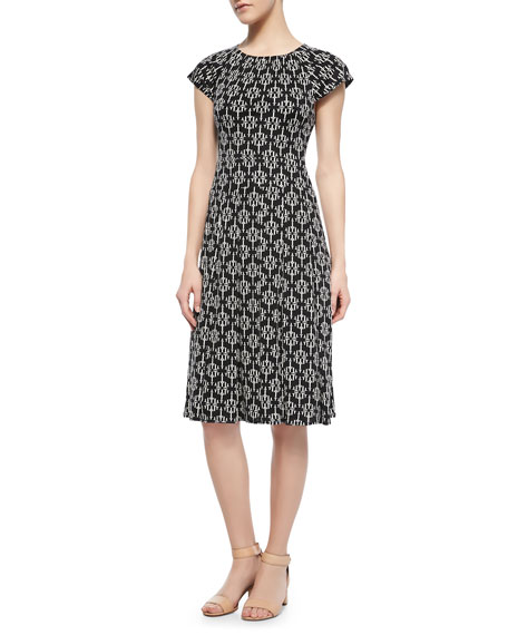 Sophia Printed Silk Dress