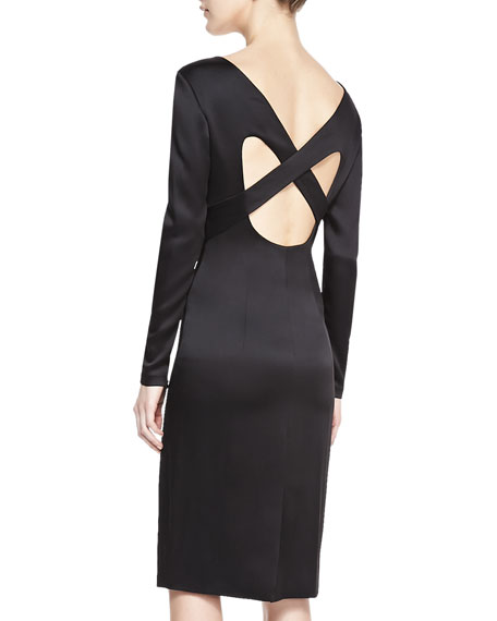 Formfitting Dress With Crisscross Back