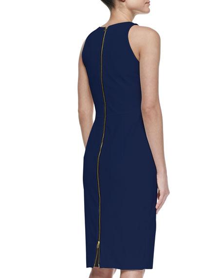 Cutout Slim Scoop-Neck Dress