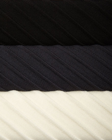 Ottoman Knit 3/4-Sleeve Tunic