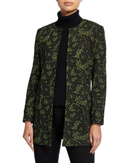 Misook Tapestry Long Jacket