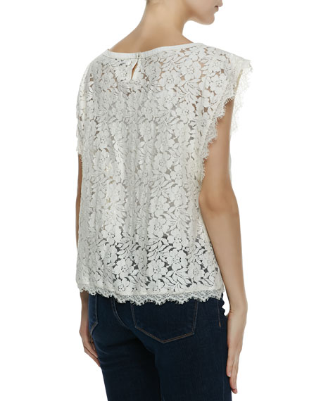 Cotton Baby Doll Crochet Lace Top