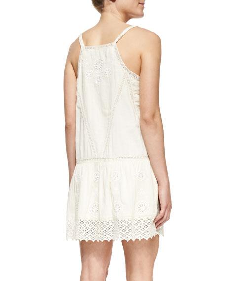 Openwork Drop-Waist Cotton Dress