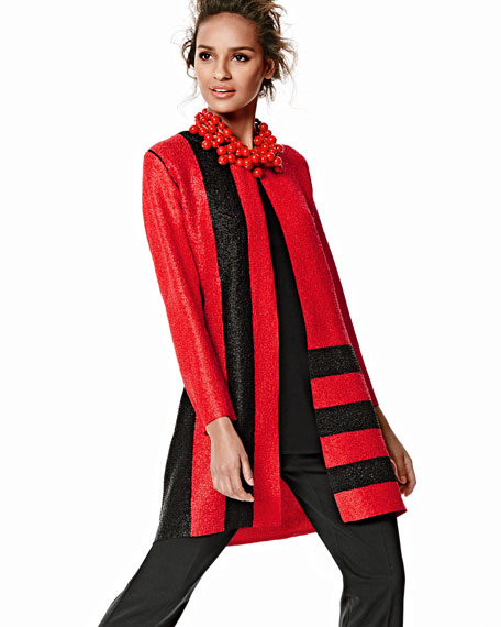 Graphic Long Crinkle Jacket, Women's