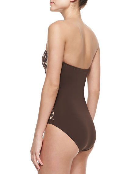 Ruched Bandeau Maillot