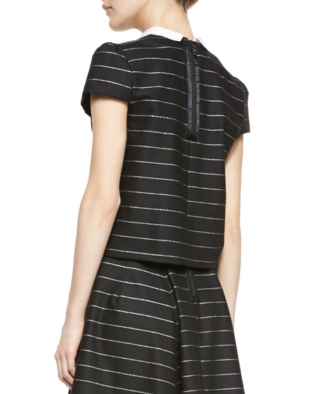Blake Striped Puff-Sleeve Top