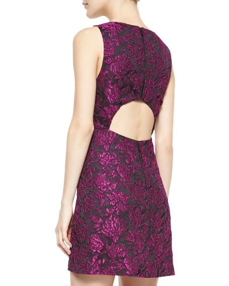 Eli Floral-Jacquard Sleeveless Dress