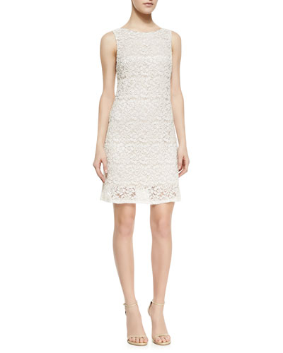 Alice + Olivia Dot Embellished Lace Shift Dress