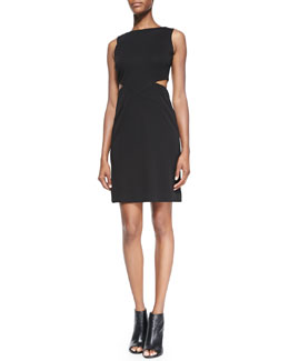 Nicole Miller Sleeveless Open-Twist Cocktail Dress