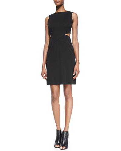 Sleeveless Open-Twist Cocktail Dress