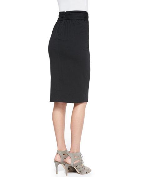 Rhina Twist-Waist Jersey Skirt