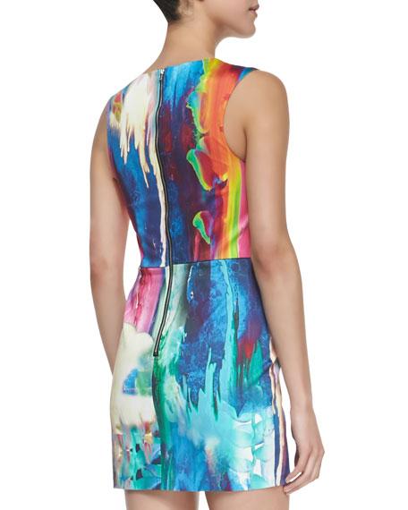 Innocent Kiss Sleeveless Heliconia-Print Dress