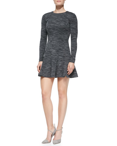 Nicole Miller Artelier Long-Sleeve Fit-and-Flare Dress