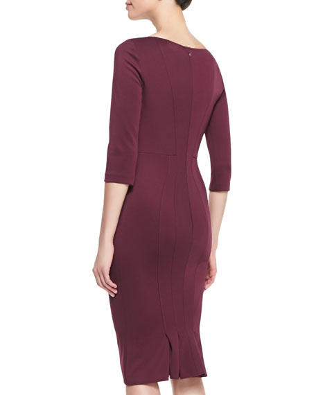 3/4-Sleeve Bandage Jersey Dress