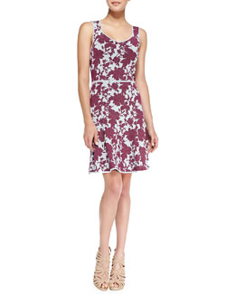 ZAC Zac Posen Floral Knit Sleeveless Dress