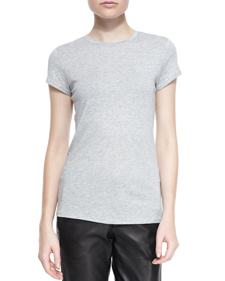 Boy-Fit Jersey Tee, Heather Gray