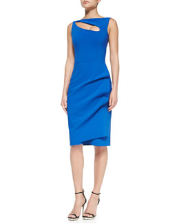 La Petite Robe di Chiara Boni Angie Boat-Neck Keyhole Cocktail Dress