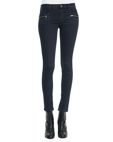 Chimera Blue Wild Zipper-Detail Skinny Jeans