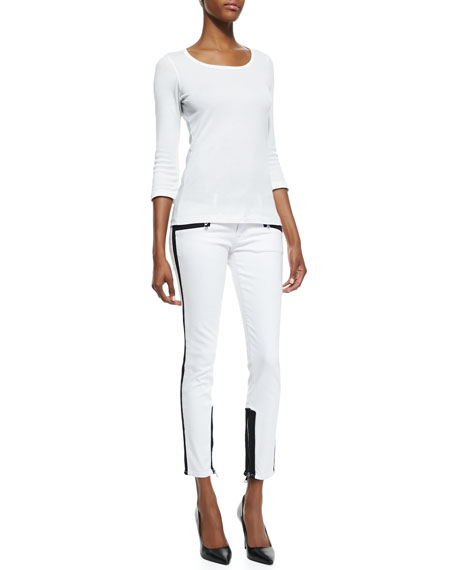 Chelsea Retreat Colorblock Denim Skinny Jeans