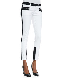 Hudson Chelsea Retreat Colorblock Denim Skinny Jeans