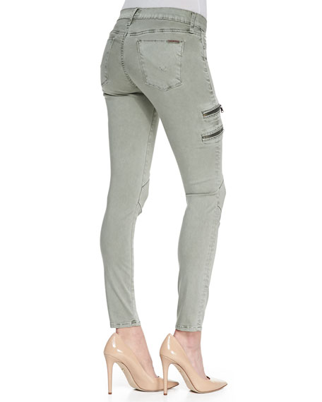 Mystic Washed Forest Zipper Cargo Jeans