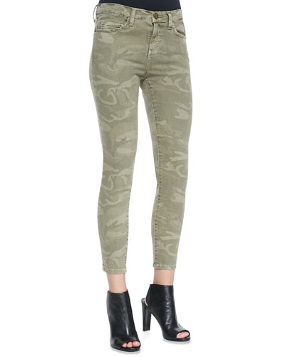 Current/Elliott The Stiletto Camo-Print Jeans