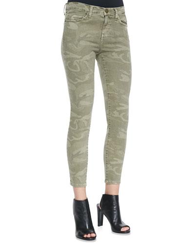 Current/Elliott The Stiletto Camo-Print Jeans