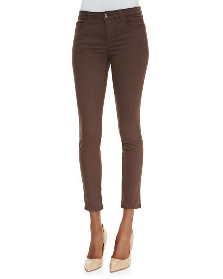 Mid-Rise Denim Leggings, Cocoa