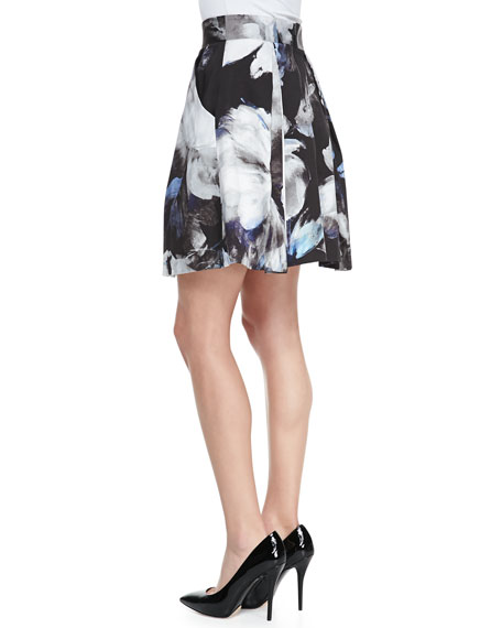 Katie Floral-Print A-Line Skirt