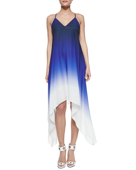Ombre High-Low Sleeveless Dress