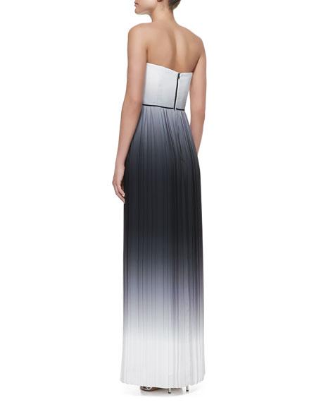 Monica Ombre Strapless Maxi Dress