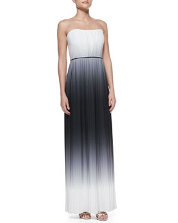 Milly Monica Ombre Strapless Maxi Dress