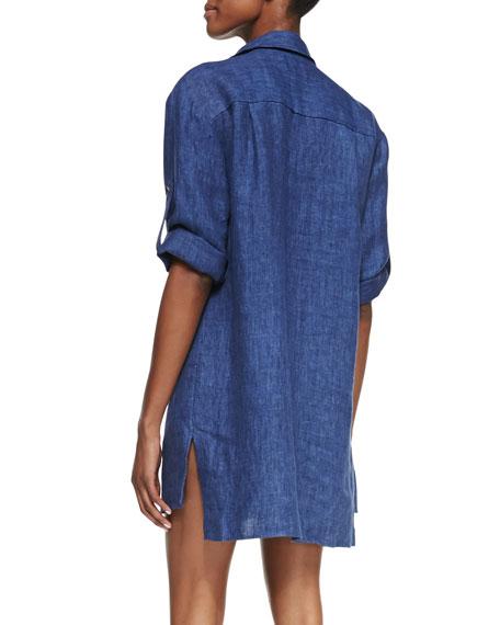 Chambray Linen Shirtdress