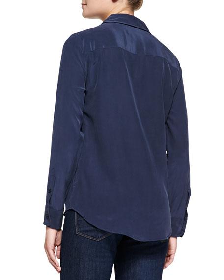 Equipment Brett Long-Sleeve Silk Blouse