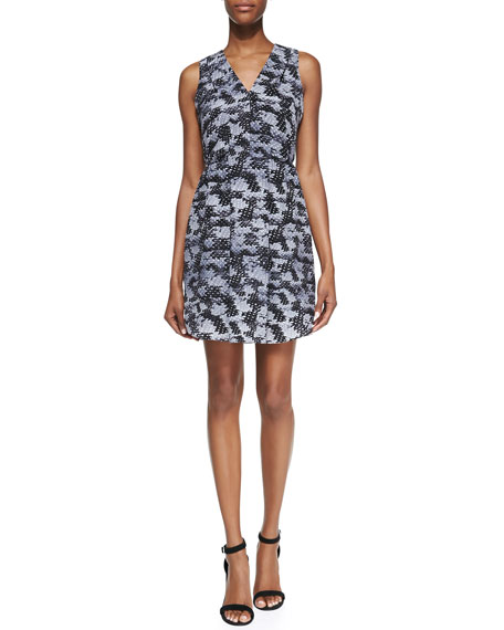 Rebecca Taylor Summer Storm Printed-Silk Sleeveless Dress