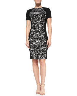 Tory Burch Gemma Short-Sleeve Pony-Dot Dress