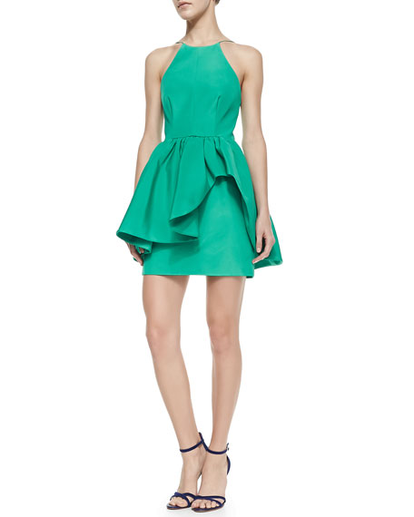 Alone Tonight Jewel-Neck Cocktail Dress