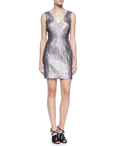 Phoebe Couture Sleeveless V-Neck Cocktail Dress
