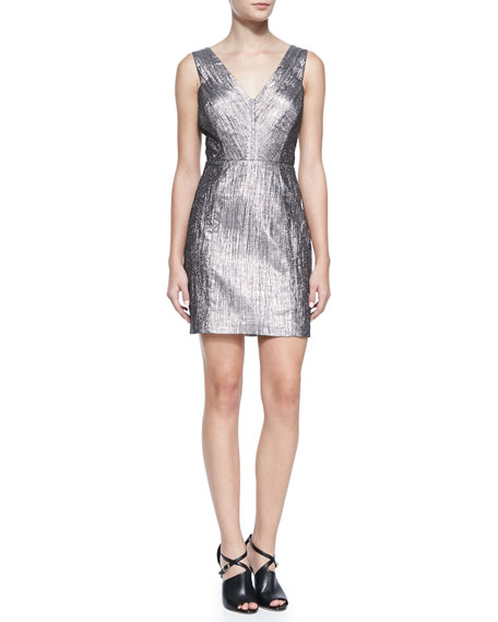 Phoebe Sleeveless V-Neck Cocktail Dress