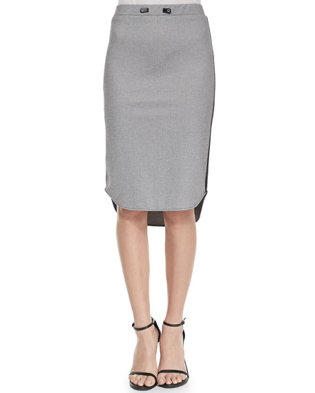 Devon Two-Tone Knit Pencil Skirt