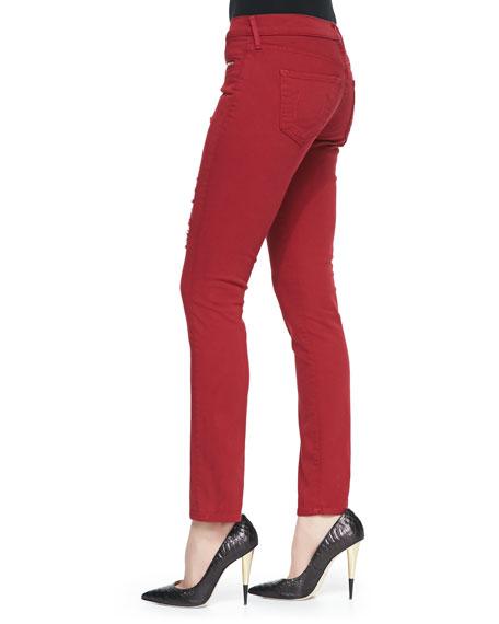 Victoria Moto Skinny Jeans, Rio Red