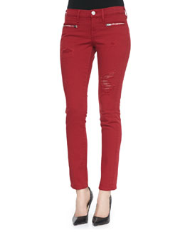 True Religion Victoria Moto Skinny Jeans, Rio Red