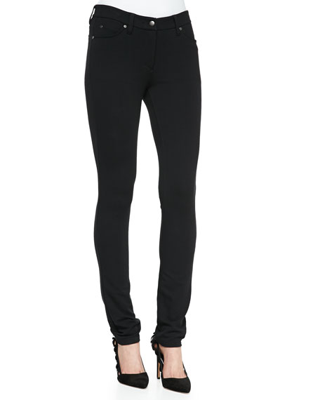 Stretch Ponte Skinny Ankle Jeans, Plus Size
