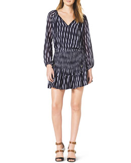 MICHAEL Michael Kors  Printed Raglan Dress