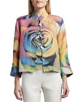 Caroline Rose Big Flower Jacket, Petite